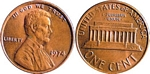 U.S. Penny 1974 Cent