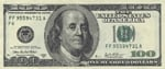 American one-hundred dollar bill $100