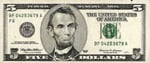 US five dollar bill $5