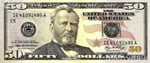 USA fifty dollar bill $50