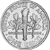 dime US ten cent piece