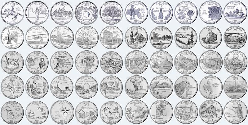 U S Quarters 171 Coins
