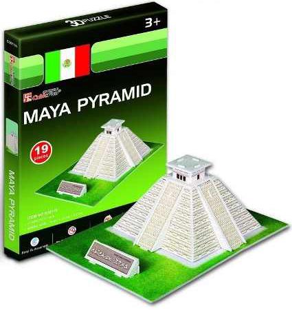 mayan pyramid 3d jigsaw puzzle by cubicfun, puzz3d dimensions maya-pyramid-3d
