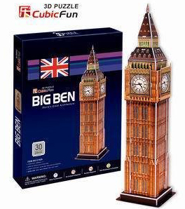 big ben 3d puzzle 30 piece 3D jigsaw puzzle, united kingdom jigsaw puzzle of bigben clock and tower big-ben-3d-puzzle
