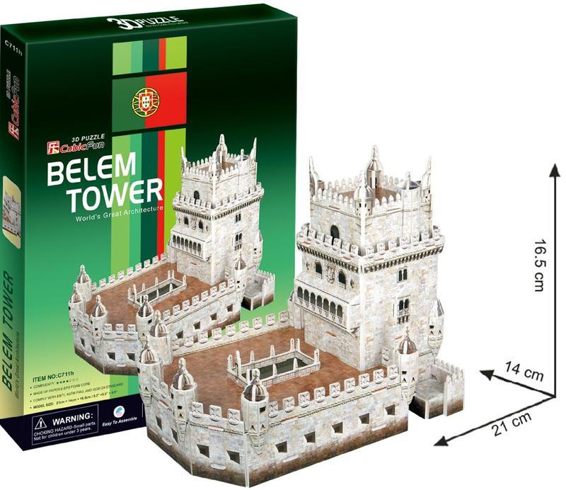 belem tower 3d puzzle belem-tower