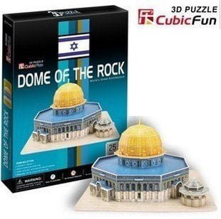 Dome of the Rock 3d puzzle 25 piece 3D jigsaw puzzle, jerusalem islamic jigsaw puzzle of domeofthero dome-of-the-rock