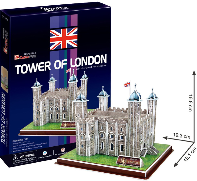 tower of london 3d puzzle tower-london-3d-40-pieces