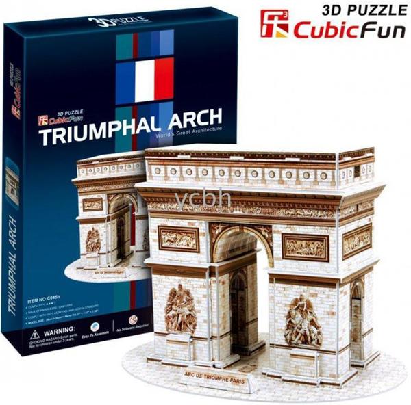 3d jigsaw puzzle, triumphal arch, museum quality jigsaw puzzle, CubicFun puzzle company, puzz3d triumphal-arch-3d-puzzle
