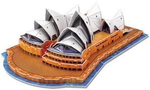 3d jigsaw puzzle, sydney opera house, museum quality jigsaw puzzle, daron puzzle company, puzz3d sydney-opera-house-3d