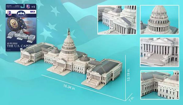capitol of the united states 3d jigsaw puzzle by daron, rare puzz3d capitol-of-the-us