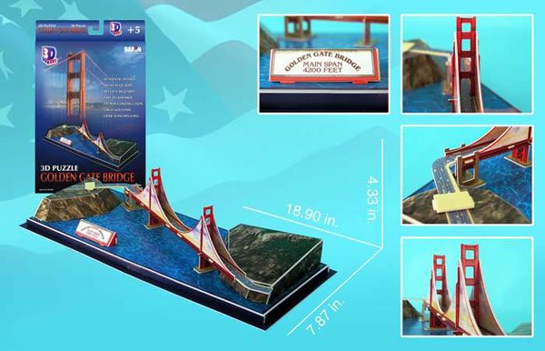 golden gate bridge 3d jigsaw puzzle by daron, puzz3d dimensions golden-gate-bridge