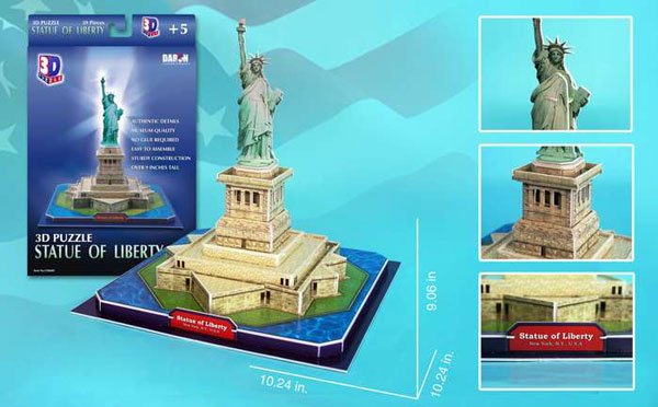 Statue of Liberty 3d Puzz by Daron, statueofliberty libertystatue symbol of freedom gift statue-of-liberty