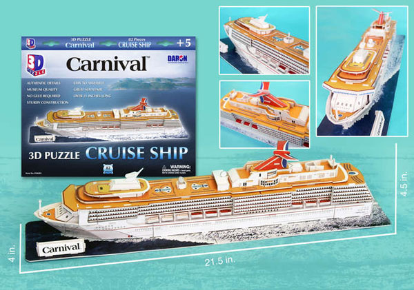 carnival cruise ship 3d puzzle museum quality sturdy construction puzz3d easy to assemble ages 5 and carnival-cruise-ship-3d