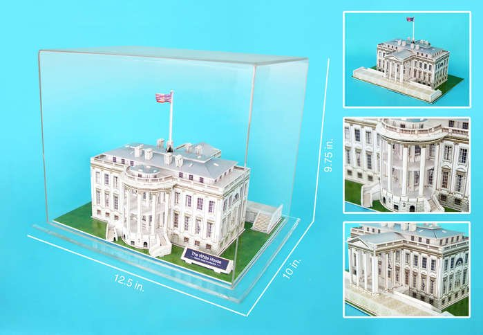white house 3d puzzle, home of the president of the united states jigsaw puzzle of the federal build white-house-in-display-case