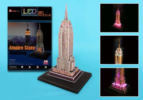 empire state building 3d puzzle, united states jigsaw puzzle of empirestate bldg new york lighted wi empire-state-building-led-lights