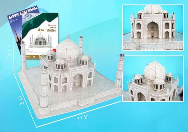 taj mahal 3d puzzle, tajmahal wrebbit rare 3d jigsaw puzzle, very rare taj-mahal-3d-with-book