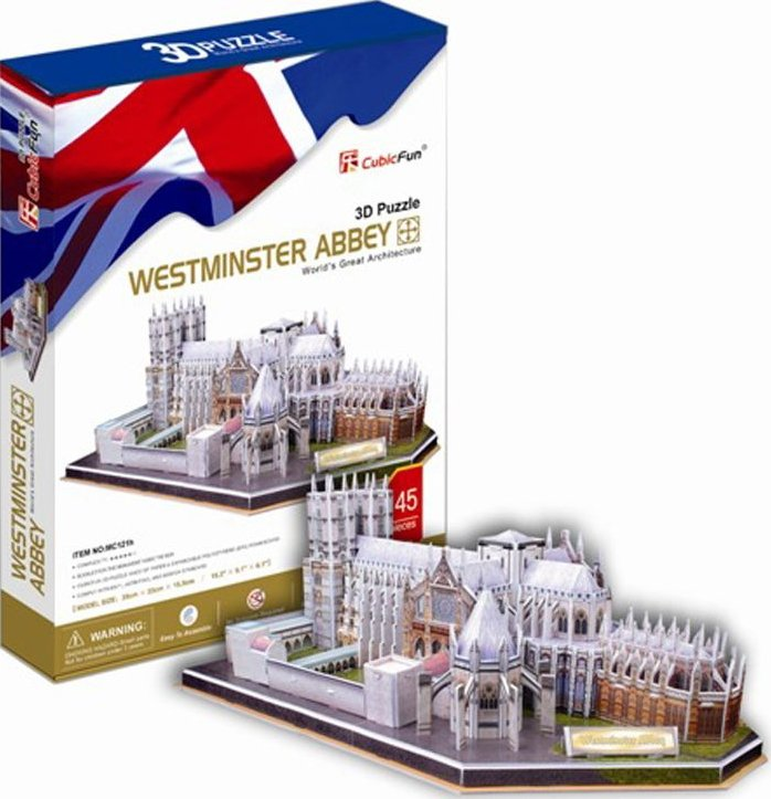 westminster abbey in england 3d jigsaw puzzle by cubicfun, puzz3d dimensions westminster-abbey
