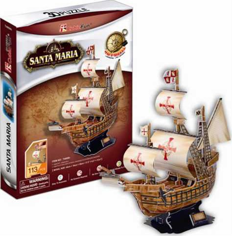 santa maria ship 3d puzzle museum quality sturdy construction puzz3d easy to assemble ages 6 up santa-maria-3d-puzzle