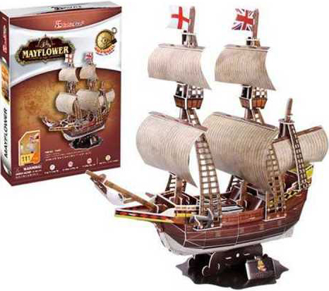 mayflower ship 3d puzzle museum quality sturdy construction puzz3d easy to assemble ages 6 up mayflower-3d-puzzle
