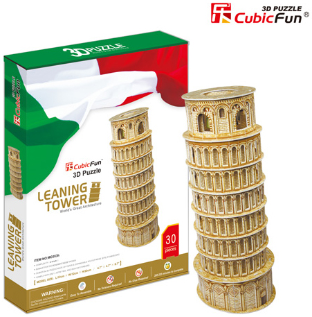 leaning tower of pisa 30 piece 3d jigsaw puzzle by daron, puzz3d dimensions piza italy leaning-tower-of-pisa-3d-booklet