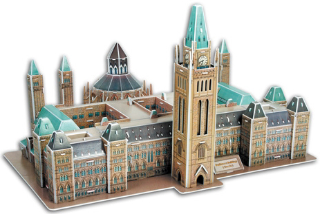 parliament buildings of canada 3 dimensional jigsaw puzzle, ottawa, ontario, canadian landmark jigsa parliament-buildings-canada