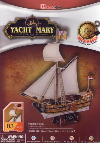 yacht mary built in the netherlands for the Dutch East India Co. in 1660,  3 dimensional jigsaw puzz yacht-mary