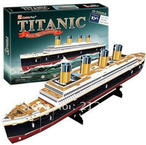 titanic royal mail steamship 3d jigsaw puzzle, rare collector's puzzles by cubic fun 3d puzzles titanic-rms