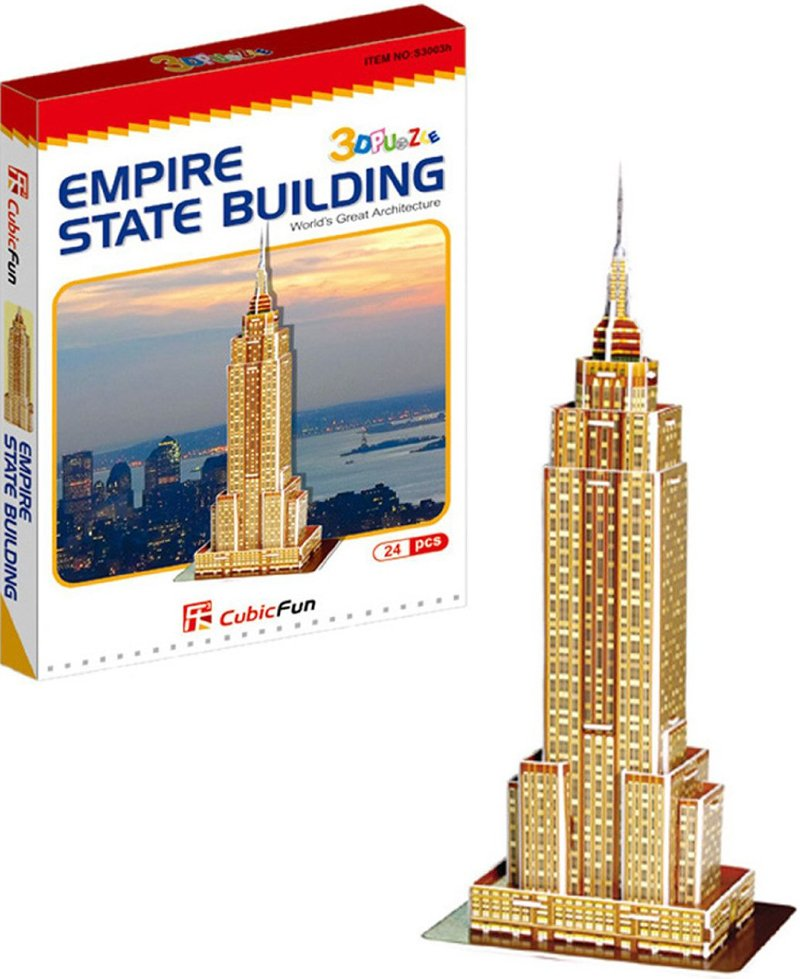 3d jigsaw puzzle, empire state building, museum quality jigsaw puzzle, daron puzzle company, puzz3d empire-statebuilding-24