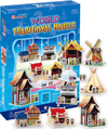 3d jigsaw puzzle, World Traditional Houses, museum quality jigsaw puzzle, daron puzzle company, puzz