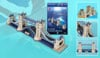 london tower bridge 3d jigsaw puzzle by daron, rare puzzle of bridge