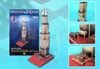 3d puzzle, willis tower formerly known as sears tower, 51 pieces, willistower 3d puzzle, small easy
