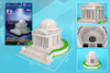 jefferson-memorial,jefferson memorial 3d jigsaw puzzle by daron, puzz3d dimensions