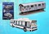 mta-subway-car-bus,3d puzzle, puzz3d metropolitan transportation authority subway car and bus, 36 pieces, 3d puzzle, sm