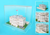 white-house-in-display-case,white house 3d puzzle, home of the president of the united states jigsaw puzzle of the federal build