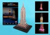 empire-state-building-led-lights,empire state building 3d puzzle, united states jigsaw puzzle of empirestate bldg new york lighted wi