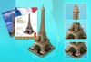 eiffel-tower-3d-with-book,3d puzzle, eiffel tower, 82 pieces with booklet, eiffeltower 3d puzzle, small easy puzzel