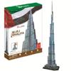 burj khalifa 3d puzzle cubicfun, U.A.E. dubai landmark skyscraper jigsaw puzzles, 3d puzles, 136 pie Puzzle