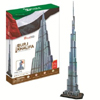 burj khalifa 3d puzzle cubicfun, U.A.E. dubai landmark skyscraper jigsaw puzzles, 3d puzles, 136 pie