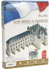 chateau-chenonceau-3d-puzz-with-book,3d jigsaw puzzles of castles, chenonceau castle, jigsaw puzzles by cubicfun 3d castle