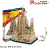 sagrada-family-iglesia,sagrada familia iglesia church 194 piece 3d jigsaw puzzle by cubicfun, puzz3d dimensions
