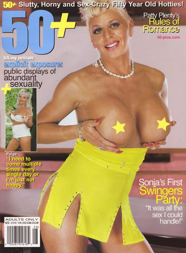 50+ Vol. 10 # 8 magazine back issue 50+ magizine back copy 50+ magazine back issues 2008 hot sexy grannies nude older more mature women in explicit erotic pics