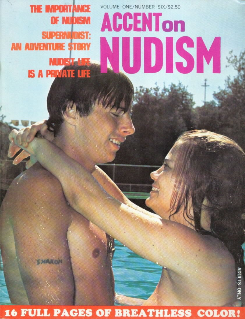 Accent on Nudism Vol. 1 # 6 magazine back issue Accent on Nudism magizine back copy