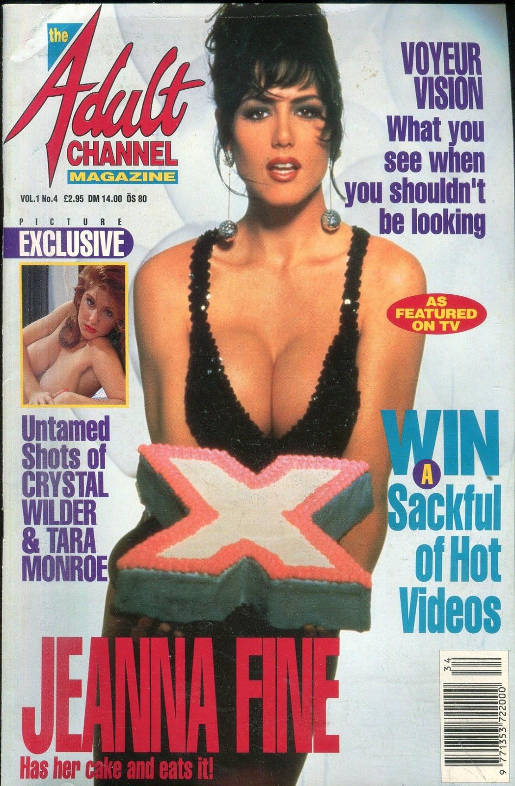 Adult Channel Magazine Vol. 1 # 4 magazine back issue Adult Channel Magazine magizine back copy
