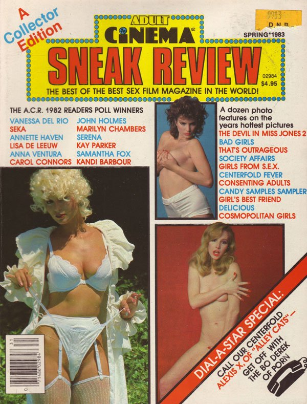 Adult Cinema Review Spring 1983 magazine back issue Adult Cinema Review ...