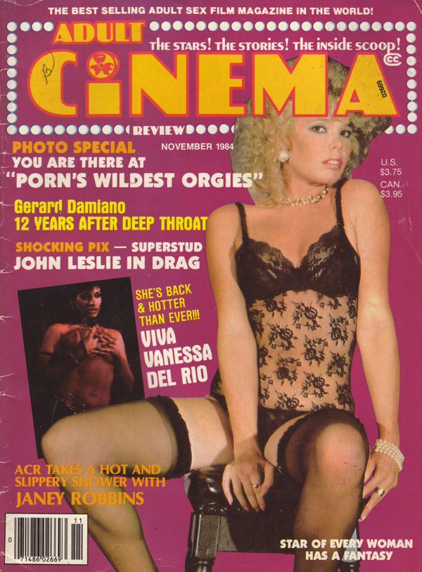 Adult Cinema Review November 1984 magazine back issue Adult Cinema Review magizine back copy 1984 adult cinema review magazine issues xxx flix photos of hot horny nude women explicit racy dirty