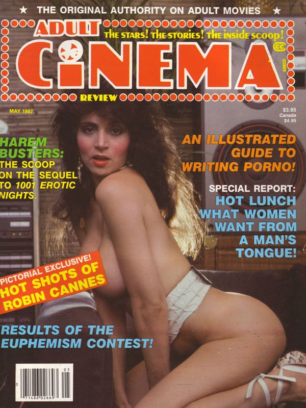 Adult Cinema Review May 1987 magazine back issue Adult Cinema Review magizine back copy adult cinema review magazine back issues hot horny girls naked xxx photos porn movie previews sex sh