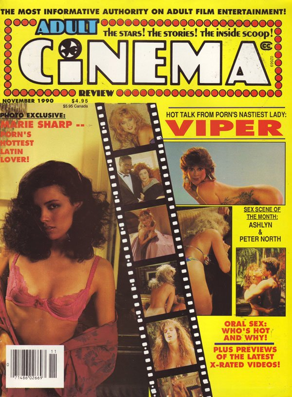 Adult Cinema Review November 1990 magazine back issue Adult Cinema Review magizine back copy nov 1990 adult cinema review issues porn movie previews skin slicks xrated sex shots explicit dirty