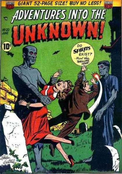 Adventures Into the Unknown A1 Comix Comic Book Database