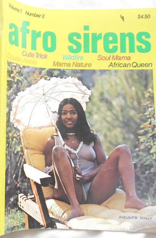 Afro Sirens Vol. 1 # 2 magazine back issue Afro Sirens magizine back copy