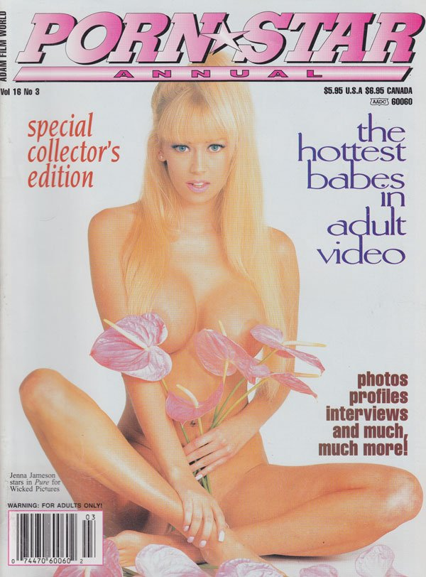 Adam Film World Guide Vol. 16 # 3 - Porn Star Annual magazine back issue Adam Film World Guide magizine back copy adam film world guide porn star annual hottest babes in adult video xxx photos profiles interviews e